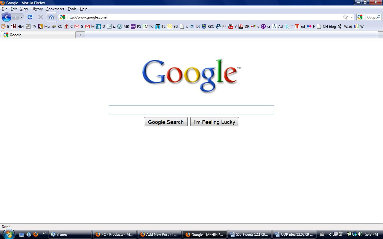 Have you seen Google's home page ? The search bar comes up first and